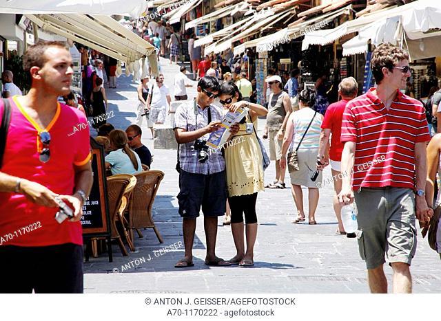 Sokrates street , rhodes greece