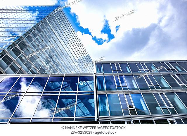 Modern architecture at the Kennedy Square in Eindhoven, The Netherlands, Europe