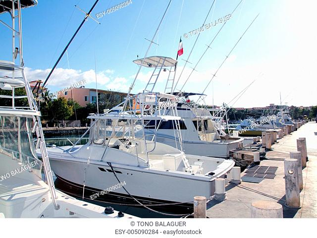 Fisherboats marina in Mexico