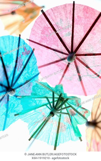 fresh and colourful cocktail umbrellas
