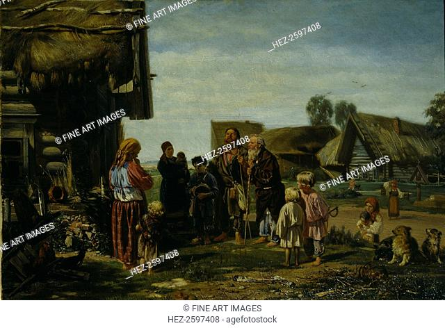 The Pilgrims, 1870. Found in the collection of the State Tretyakov Gallery, Moscow