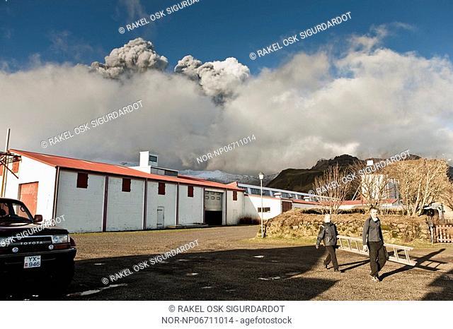 Volcanic eruption in South Iceland, image shot 16. April 2010