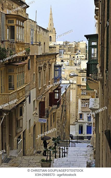 sidestepping in Valetta, Malta, Mediterranean Sea, Southern Europe