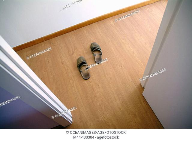 Corridor and slippers