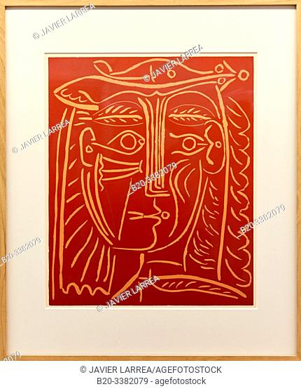 """""""Tête de femme au chapel / Paysage avec baigneurs"""", 1962, Pablo Picasso, Picasso Museum, Paris, France, Europe"""