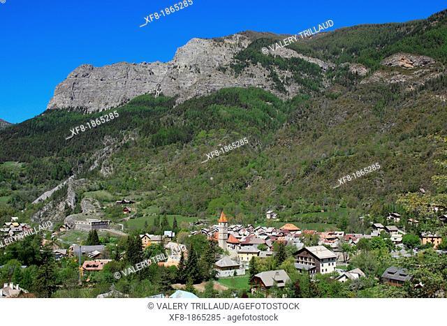 Medieval village of Colmars les Alpes, Alpes de Haute Provence, 04, PACA, France