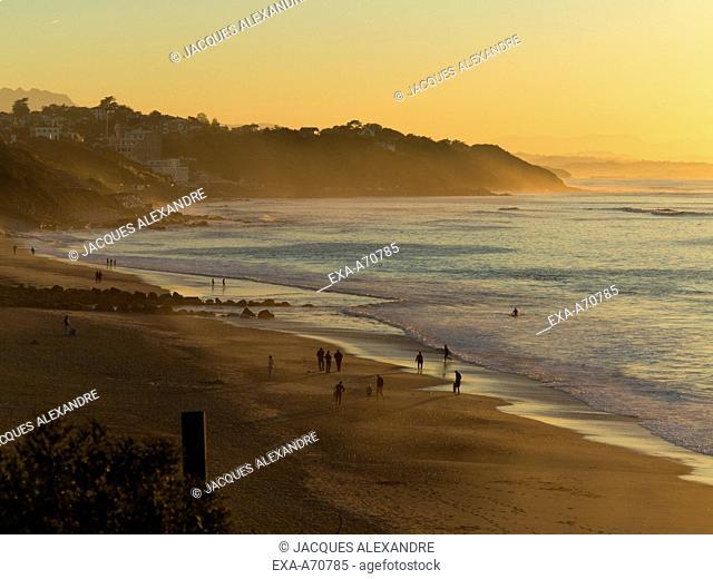 Sunset at Basque Coast, France