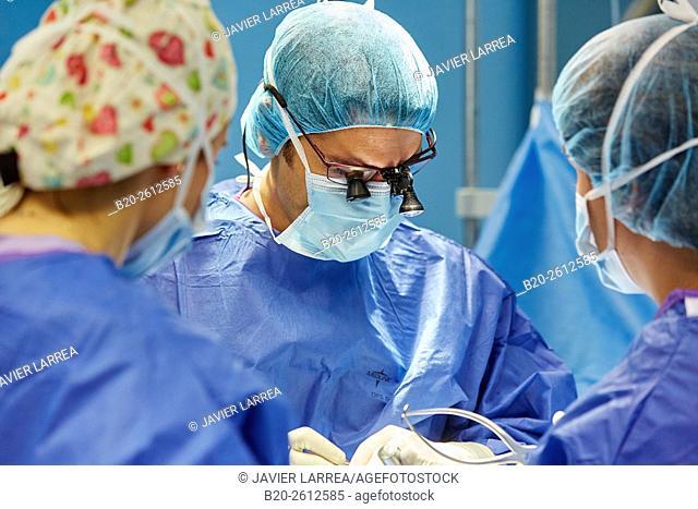 Column operation. Traumatology. OR. Operating theater. Hospital. Donostia. San Sebastian. Gipuzkoa. Basque Country. Spain