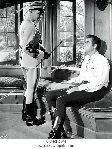 A scene from The Prisoner of Zenda with actors James Mason and Stewart Granger, USA