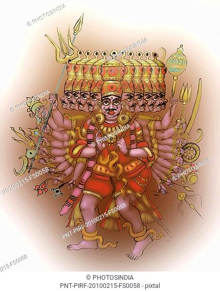 Ravana the ten headed demon king