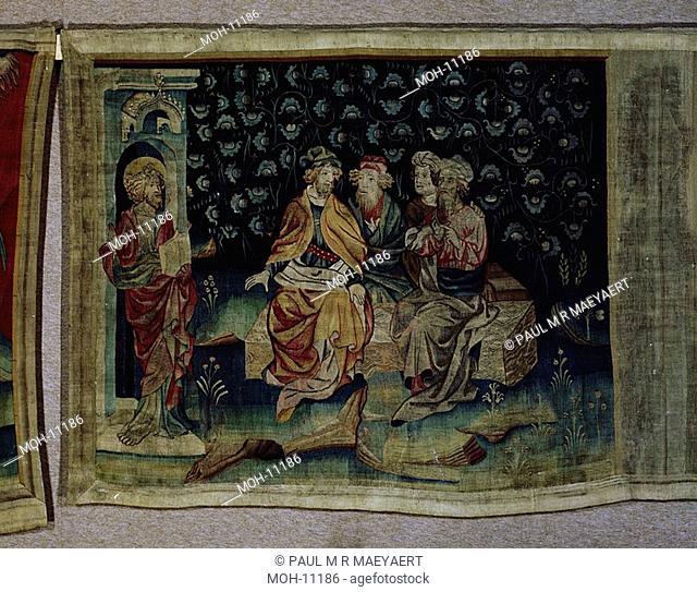 La Tenture de l'Apocalypse d'Angers, Les juges intérieures du cadre 1,50 x 1,90m, die Richter