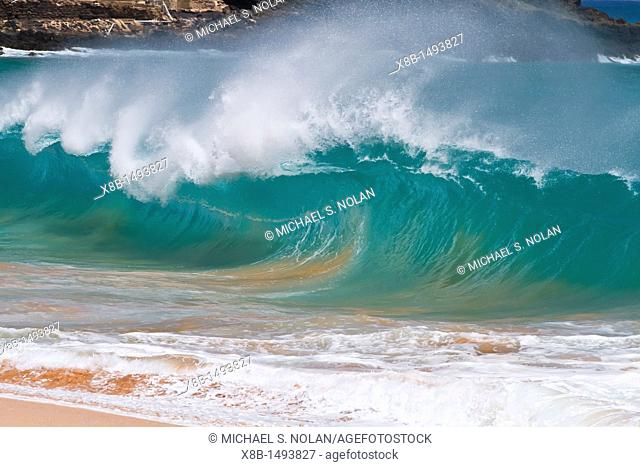 HUGE waves breaking on the beach at Ascension Island in the Tropical Atlantic Ocean  MORE INFO Ascension Island is a remote volcanic island in the tropical...