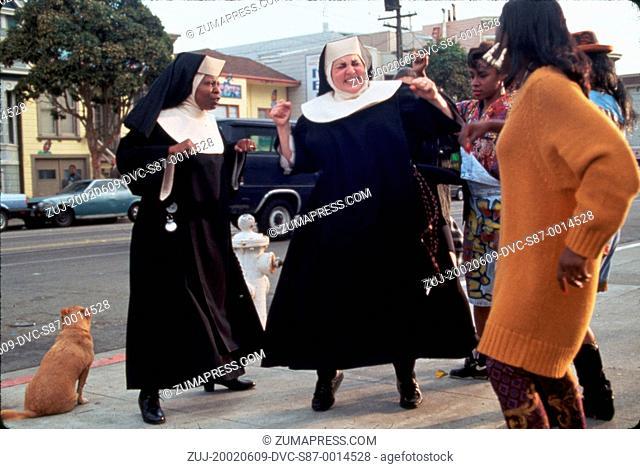 1992, Film Title: SISTER ACT, Director: EMILE ARDOLINO, Studio: TOUCHSTONE, Pictured: EMILE ARDOLINO, CLOTHING, WHOOPI GOLDBERG, KATHY NAJIMY