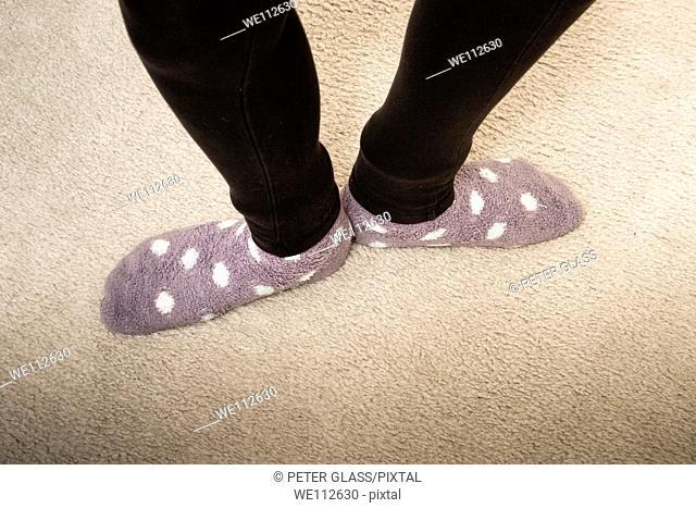 Teen girl's feet