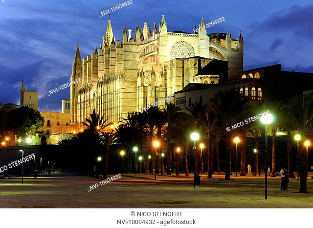 La Seu cathedral, Palma de Majorca, Balearic Islands, Spain