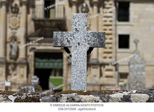 Cross, Monastery of Santo Estevo, Orense province, Spain