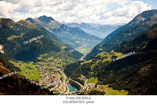 Airolo and Leventina Valleys, Gotthard Pass, Ticino, Switzerland