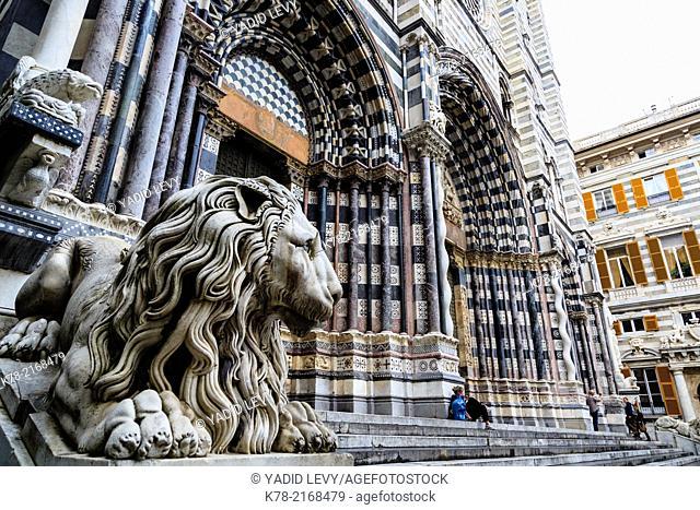 San Lorenzo Cathedral, Genoa, Liguaria, Italy