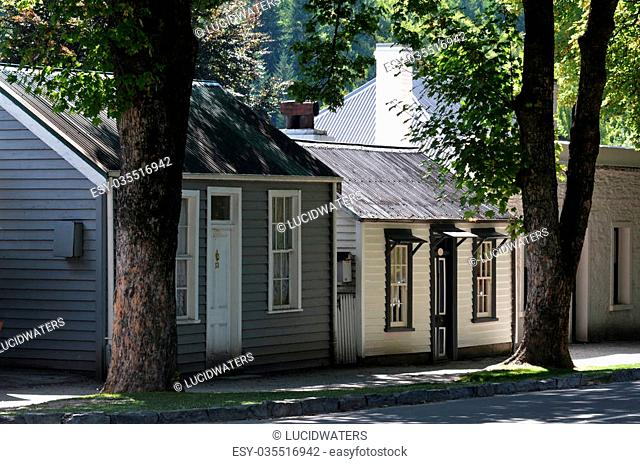 ARROWTOWN,NZ - JAN 17:Arrowtown on Jan 17 2014.It's a popular travel destination with well preserved buildings used by European and Chinese immigrants dating...