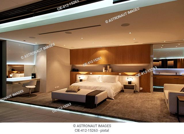 Bedroom in modern house