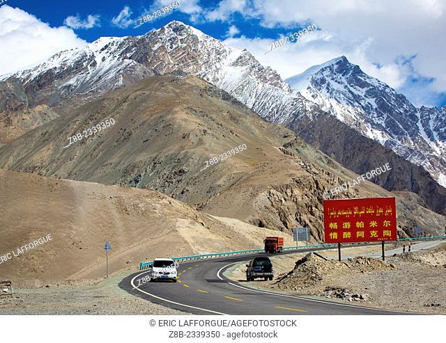 Mountains Around Karakul Lake, Xinjiang Uyghur Autonomous Region, China