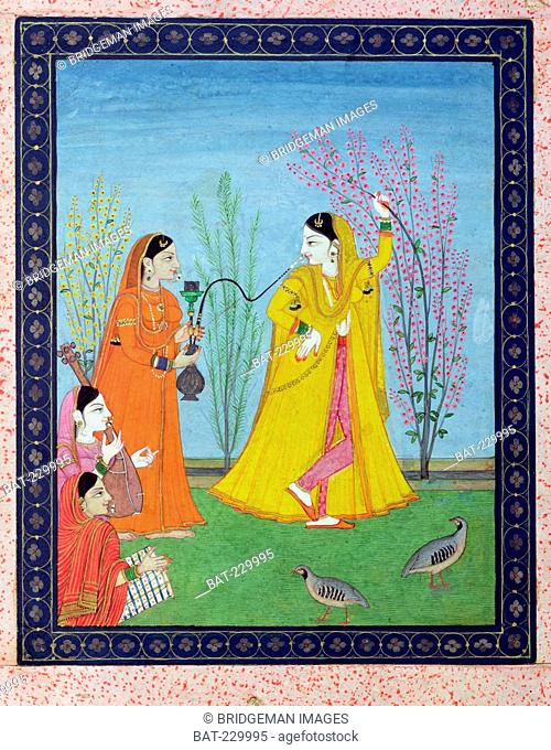 The Beginning of Spring, from Chamba, Himachal Pradesh, c.1800 (gouache on paper), Pahari School (19th Century) / Musee Guimet, Paris, France / Bridgeman Images