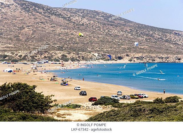 View over Prassionisi Beach, Prassionisi, Rhodes, Greece