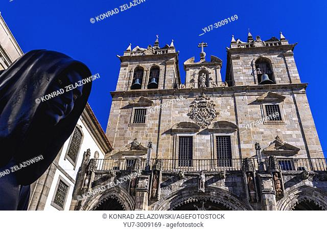 Cathedral in Braga, one of the oldest cities in Portugal, located in historical Minho Province