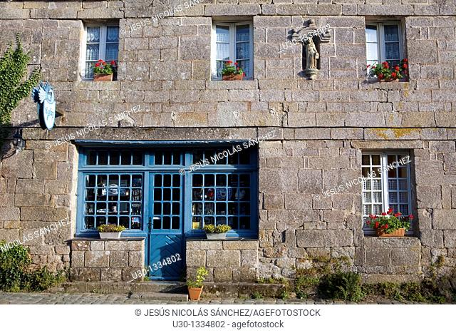 Typical house in the small town of Locronan, in the Finistere department  Brittany  France