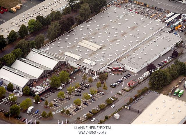 Aerial photo of Soester Börde, Haarstrang, Germany. Store in Soest