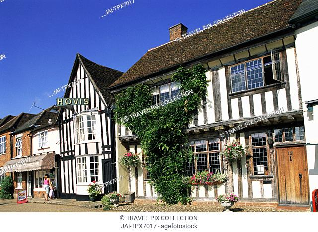 England, Constable Country, Suffolk, Lavenham, Timbered Buildings