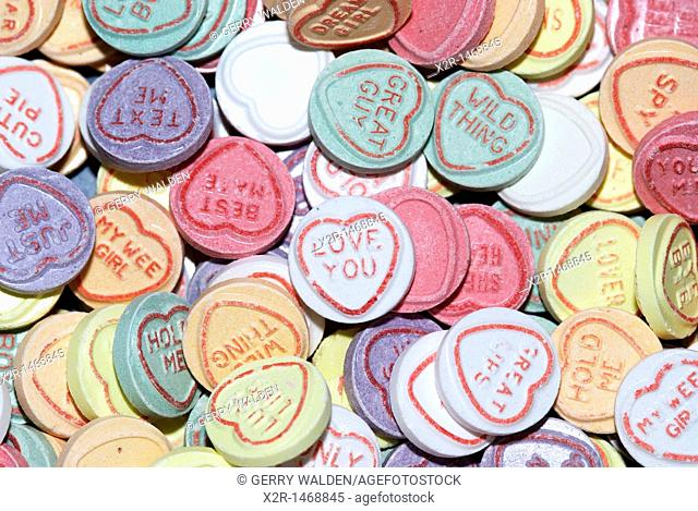 Love Heart sweets or candies