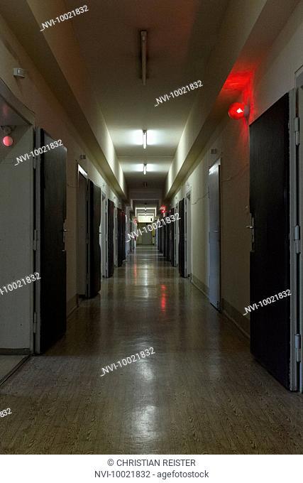 Corridor in the interrogation wing, former Stasi prison, Hohenschönhausen Memorial, Berlin, Germany