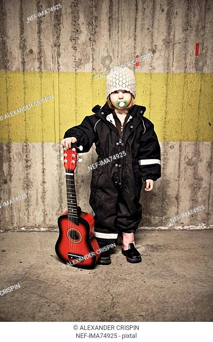 A little girl with a guitar, Sweden