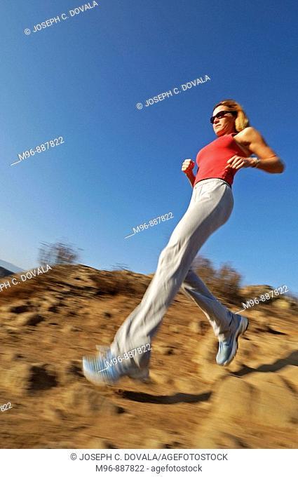 Female running motion