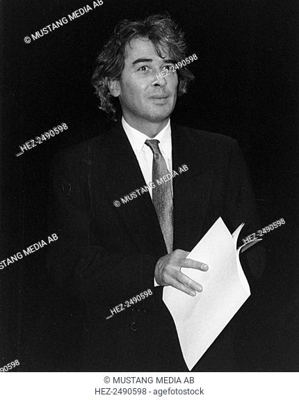 Staffan Scheja, Swedish pianist and professor, c1980s(?). After studies at the Royal College of Music in Stockholm and then at the Juilliard School in New York