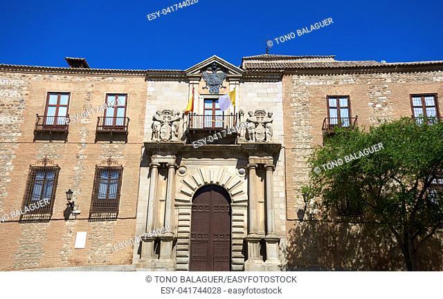 Toledo Arzobispal facade in Castile La Mancha of Spain