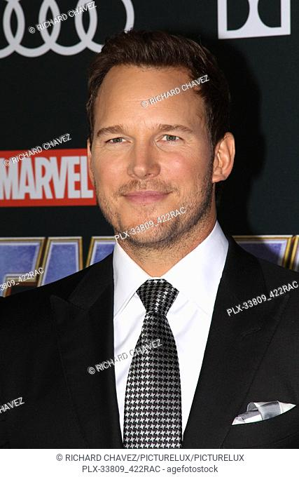 """Chris Pratt at the Marvel Studios World Premiere of """"""""Avengers Endgame"""""""". Held at the Los Angeles Convention Center in Los Angeles, CA, April 22, 2019"""