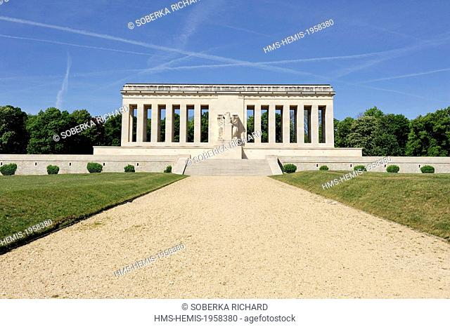 France, Aisne, Chateau Thierry, American Monument inaugurated in 1933 in memory of the attack on 18 July 1918 during the Second Battle of the Marne