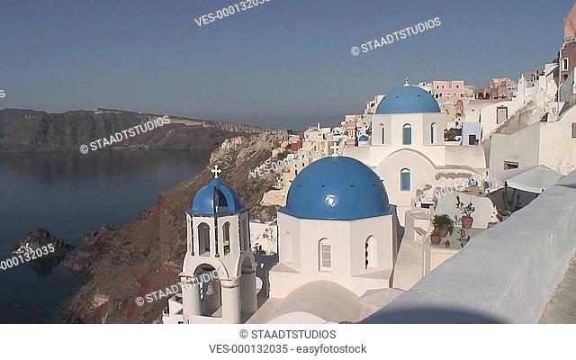 Ort Ia auf der griechischen Kykladen-Insel Santorini