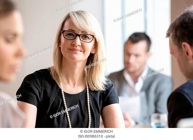 Businessmen and businesswomen working