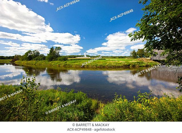 Farm, Petitcodiac River, Hasty, Westmorland County, New Brunswick, Canada