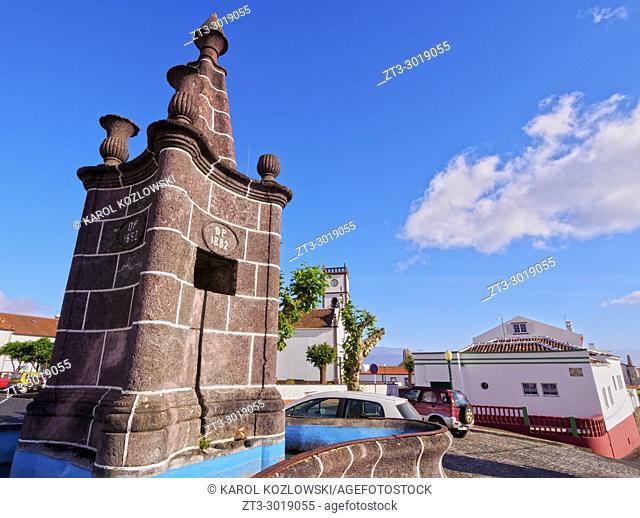 Fountain in Vila do Porto, Santa Maria Island, Azores, Portugal