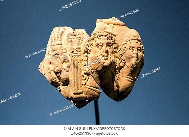 "Photo taken during the opening visit of the exhibition """"Osiris, Egypt's Sunken Mysteries"""". Egypt, Alexandria, Maritime Museum"