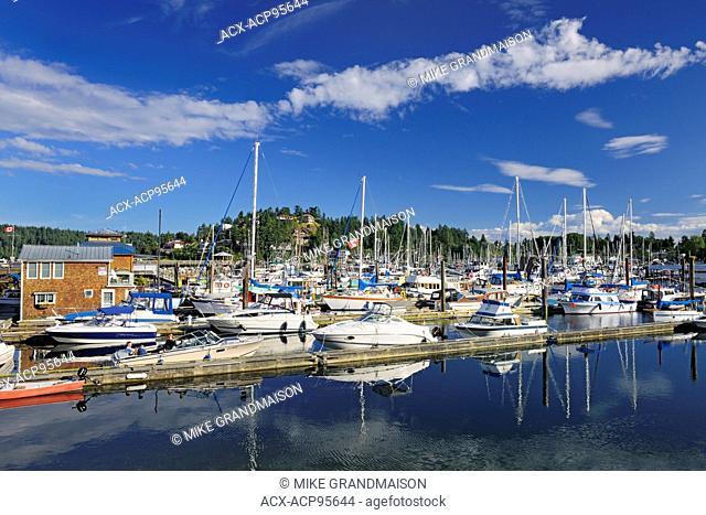Sailboats in marina Gibsons British Columbia Canada