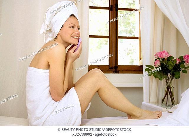 Woman beauty care