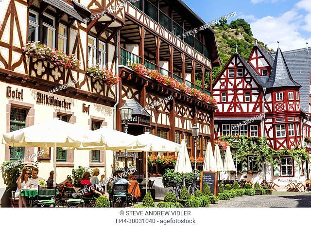 Germany, Rhineland-Palatinate, Bacharach, Town Centre