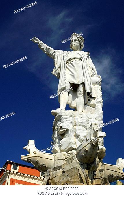 Columbus monument, Santa Margherita Ligure, Liguria, Italy