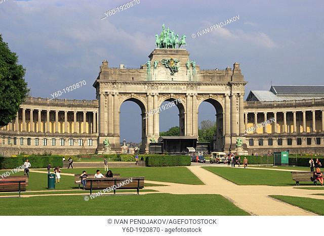 Cinquantenaire Park, Brussels, Belgium