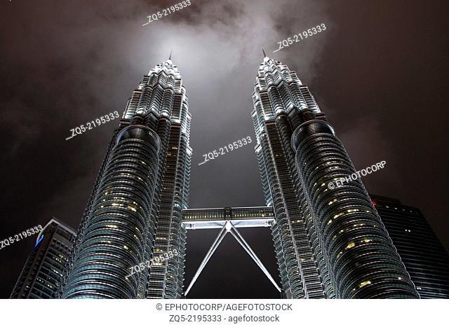 The majestic Petronas Twin Towers in Kuala Lumpur, Malaysia